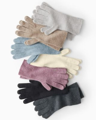 Basketweave Cashmere Gloves