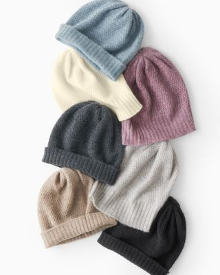 Basketweave Cashmere Hat