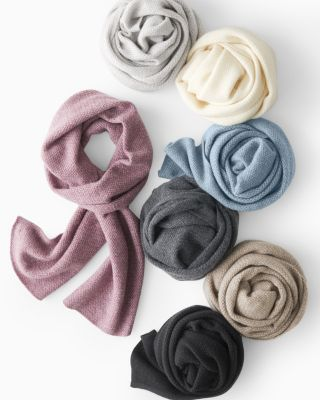 Basketweave Cashmere Scarf
