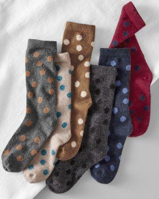 Classic Cashmere-Blend Dot Socks