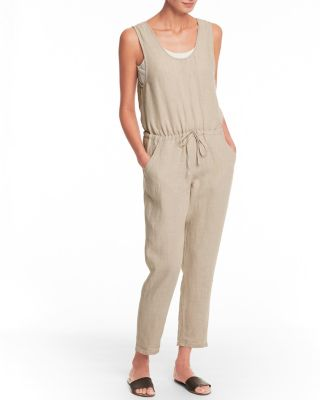 Linen Surplice Back Jumpsuit by Garnet Hill