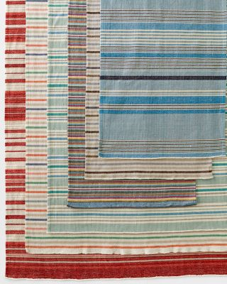 Garnet Hill Woven Cotton Stripe Rug by Garnet Hill