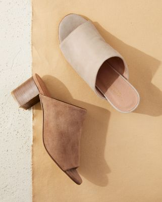 Giulia Heeled Slides by Garnet Hill
