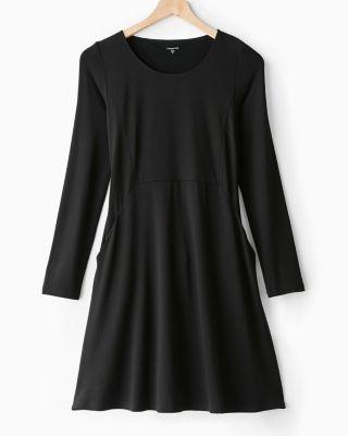 Pocket Detail Trapeze Dress by Garnet Hill