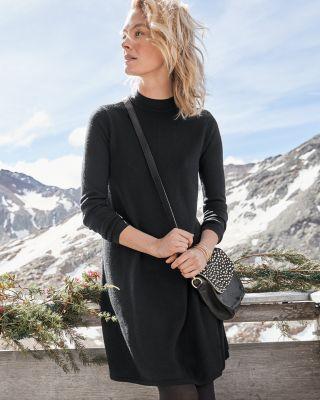 Eco Merino Trapeze Sweater Dress by Garnet Hill