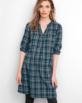 Plaid Popover Dress by Garnet Hill