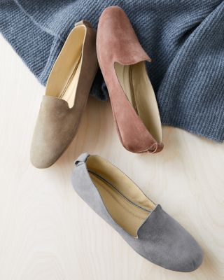 Eileen Fisher Suede Slippers by Garnet Hill