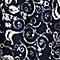 Navy Scroll Floral