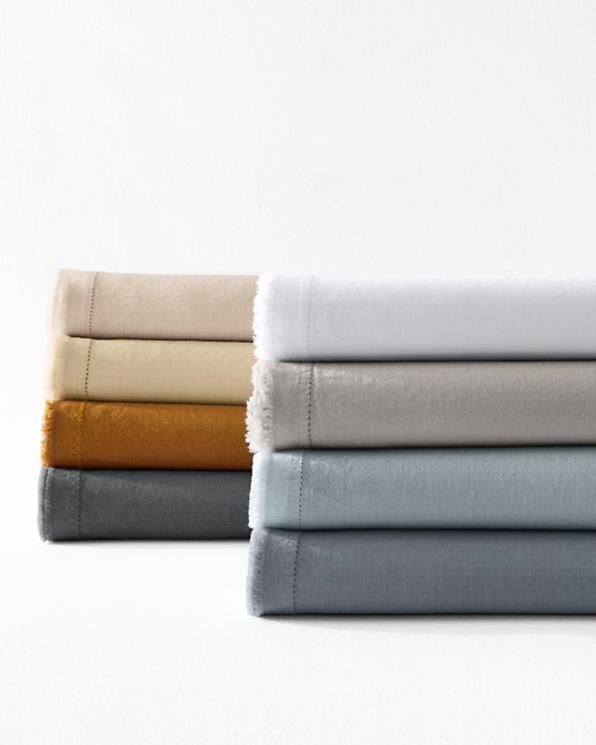 Eileen Fisher Washed Linen Sheets