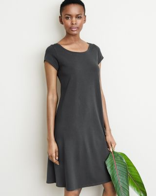 Eileen Fisher Organic Cotton Ballet-Neck Dress
