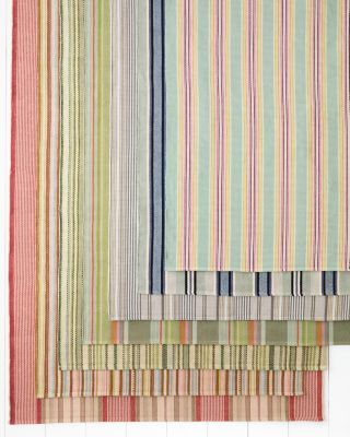 Cottage Stripe Cotton Rug Collection by Dash &