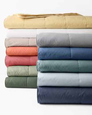 Garnet Hill Essential Down or Core-Loft® Blankets and