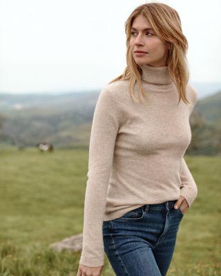 Garnet Hill Cashmere Turtleneck Sweater