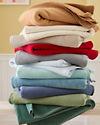 Cotton Fleece Blanket Cotton Fleece Throw Garnet Hill