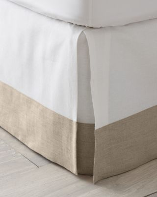 Linen-Trimmed Box-Pleated Bedskirt