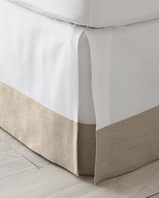 Linen Trimmed Box Pleated Bedskirt Garnet Hill