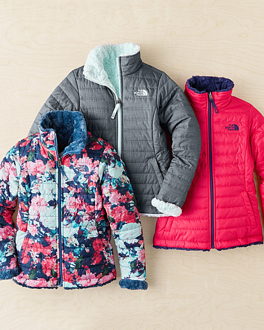 The North Face® Reversible Mossbud Swirl Jacket - Girls - Garnet Hill