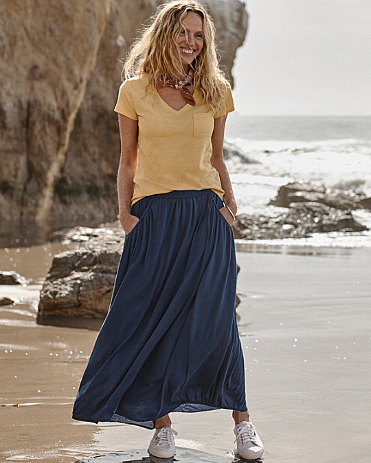 Favorite Maxi Knit Skirt - Regular - Garnet Hill