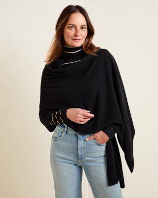 Garnet Hill Plush Cashmere Wrap