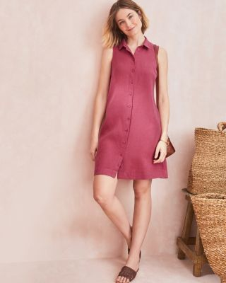 Garnet Hill Linen Shirtdress