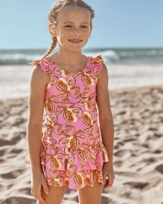 Ruffle Skirted Swim Bottom - Girls