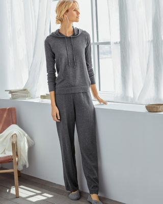 Hooded Sweater-Knit Pajamas