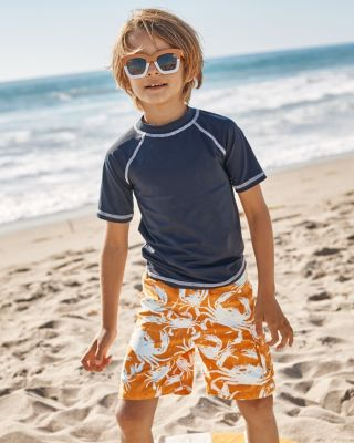 Boys' Short-Sleeve UPF 50+ Swim Rashguard