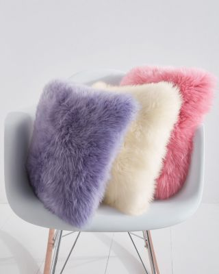 Colorful Sheepskin Pillow