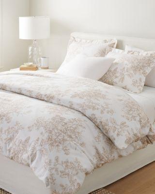 Garnet Hill Signature Toile Floral Flannel Duvet Cover