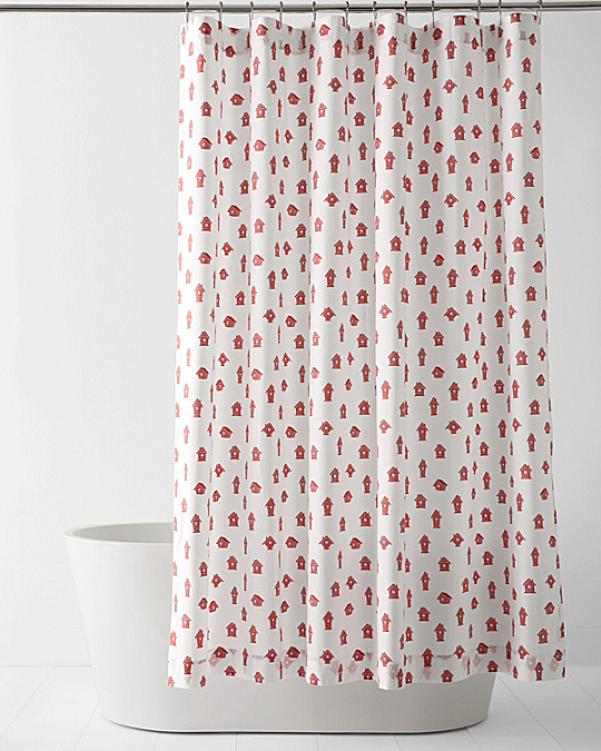 Mini-Print Shower Curtain - Garnet Hill