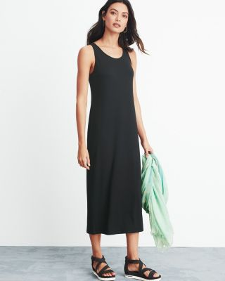 Eileen Fisher Viscose Jersey Ankle-Length Dress
