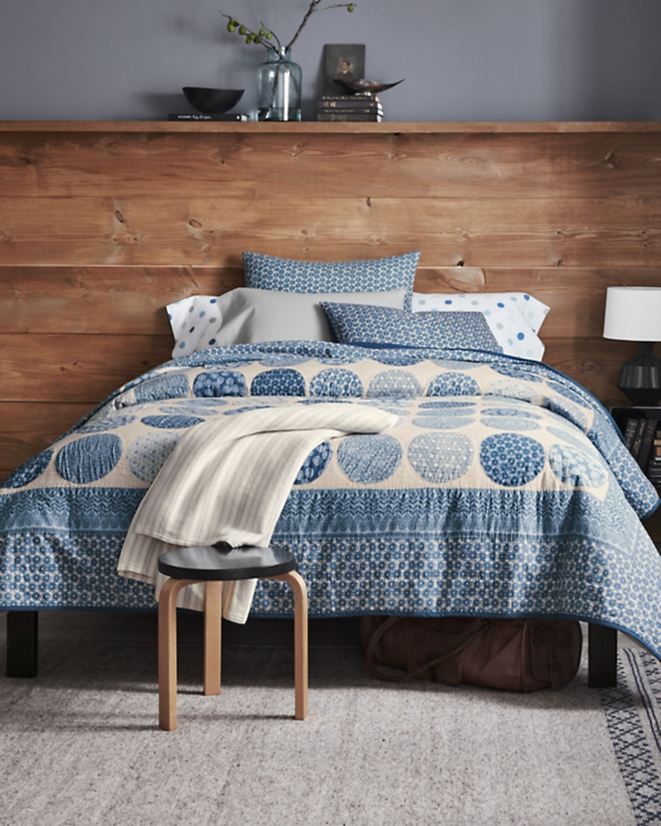 Garnet Hill Blue Moon Quilt and Sham