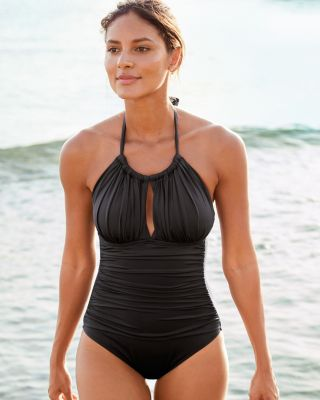 Kenneth Cole High-Neck Mio One-Piece Swimsuit