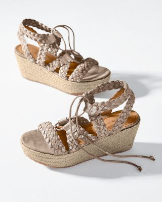 Trask Patrice Braided Espadrille Sandals