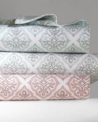 Garnet Hill Signature Tile Flannel Bedding