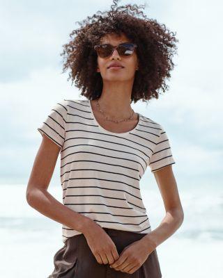 Organic Pima Cotton & Tencel® Short-Sleeve Tee