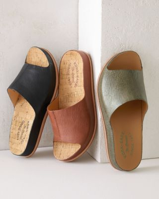 Kork-Ease Tutsi Leather Slide Sandals