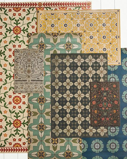 vintage vinyl® floorcloths | garnet hill
