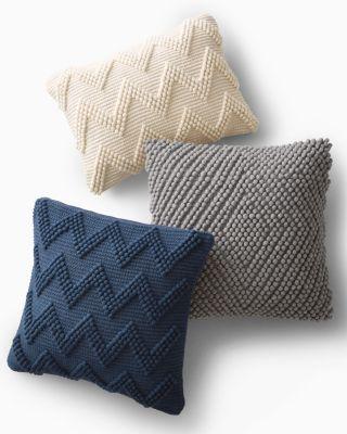 Textured Knit Chevron Pillow