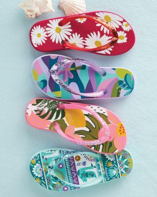 Girls' Rafters Surfer's Sparkle Flip-Flops
