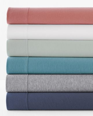 Solid Jersey-Knit Bedding