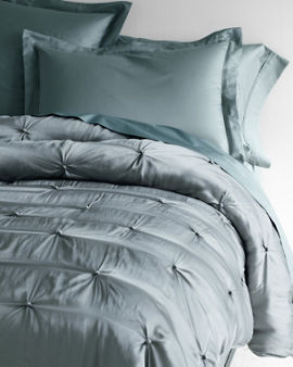 Eileen Fisher Rippled Organic Cotton Coverlet And Shams