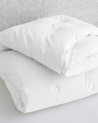European Channeled White Goose Down Comforter