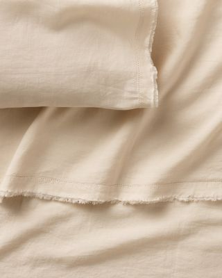 EILEEN FISHER Solid Washed-Linen Bedding Collection