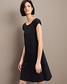 Eileen Fisher Organic Cotton Ballet-Neck Dress - Regular