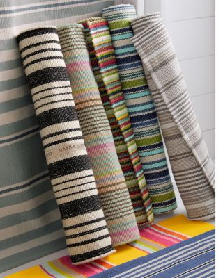 Bertie Striped Indoor/Outdoor Woven Rug by Dash & Albert