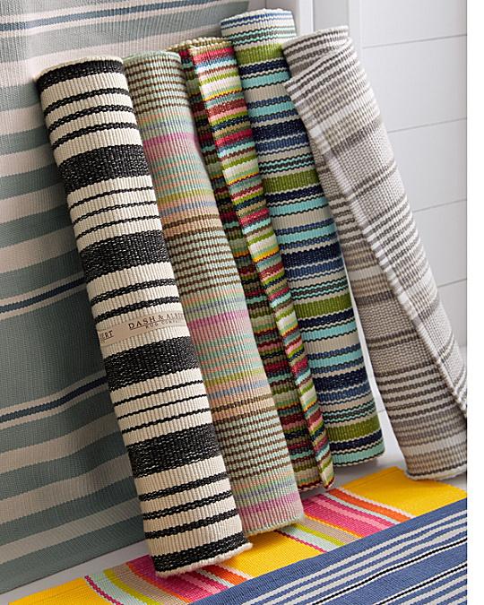 Bertie Stripe Indoor-Outdoor Rug by Dash & Albert   Garnet Hill