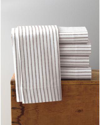 Garnet Hill Paintbrush Ticking Flannel Duvet Cover
