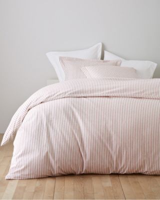 Garnet Hill Paintbrush Ticking Flannel Duvet Cover