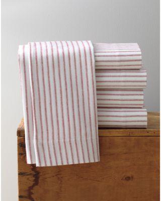 Garnet Hill Paintbrush Ticking Flannel Sham